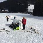 Eisbär mit Lehrerin Andrea Eder