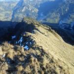 Der Blick von der 3 Meter Schneid zurück - links gehts ins Igltal, rechte Seite Viehhausmahder