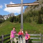 Das Ziel unserer Wanderung - im Hintergrund die Höllwand