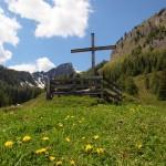 Das Wetterkreuz etwas oberhalb der Igltalalm