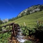 Wasserrad bei der Igltalalm