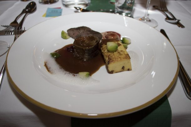 Hauptspeise vom Degustationsmenü - Zweierlei vom Hirschkalb