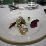 Geräucherter Stör mit Kaviar, Gartengurke und Chioggia Rübe