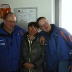 Jakob und Hans von der Hochbrandbahn kümmern sich um die Gäste