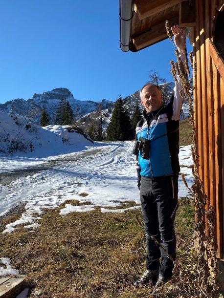 Königskerze auf der Viehhausalm mit einer Rekordhöhe von 2,20 Meter - so viel Schnee soll es auch geben