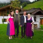 Die Forchers mit Familie Kendlbacher vom Hotel Moar-Gut