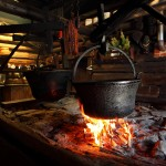 Offene Feuerstelle in der Karseggalm