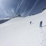 Der Gipfel des Keeskogel bereits in greifbare Nähe gerückt