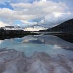 Gletscher/Schneefeld reichen noch direkt bis in den See