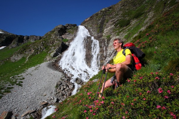 Rast am Fallbach-Wasserfall