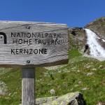 Knapp unter dem Fallbach-Fall beginnt die Kernzone des Nationalparks Hohe Tauern