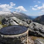 Eine kupferne Scheibe hilft, die Gipfel zu bestimmen