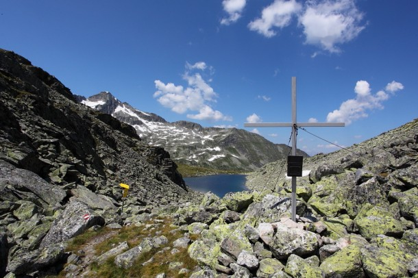 Arlscharte - Blick zu Pfringersee und Zwölferkogel