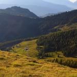 Blick hinab in Richtung Norden zur Maurachalm, 1.620 m