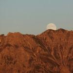 Über Ennskrax und Kraxenkogel geht der Mond g´rad auf