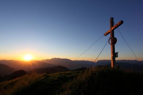 "Sonnenuntergang an der ""Gabel"" (Kitzstein, 2.037 m) I"