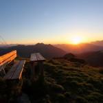 "Sonnenuntergang an der ""Gabel"" (Kitzstein, 2.037 m) III"