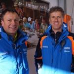 Familienbande: Seilbahntechniker Hubert Aichhorn mit seinem Bruder Klemens von der Pistencrew