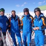 Sind ein eingespieltes Team: Michi, Klemens, Albert und Toni