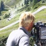 Uschi filmt für das Making-Off den ORF-Konvoi
