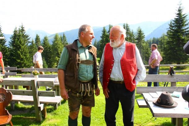 Oberförster Robert Schilcher im Gespräch mit Sepp Forcher