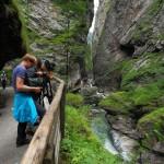 Dreharbeiten in der Liechtensteinklamm