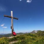 Gipfel Kreuzeck (2.204 m) mit Blick zum Draugstein