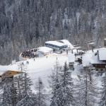 Kreuzkogel - die Skifahrer sind schon heiß aufs Skifahren