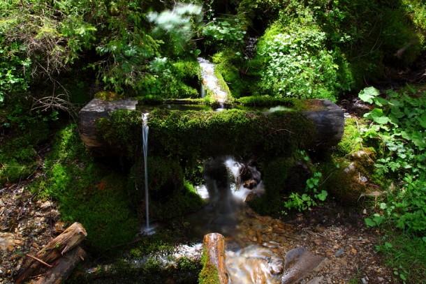 Brunnen am Weg zur Maurachalm & Unterwandalm