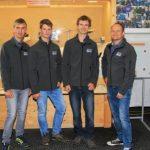 Lehrlinge Peter, Roland, Gerhard und Lehrlingsausbilder sowie Betriebsleiter Stellv. Josef Rieger © Alois Prommegger