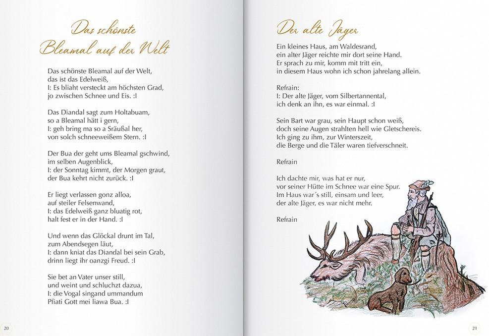 Liederbuch Aichhorn Doris - Alte Liedtexte