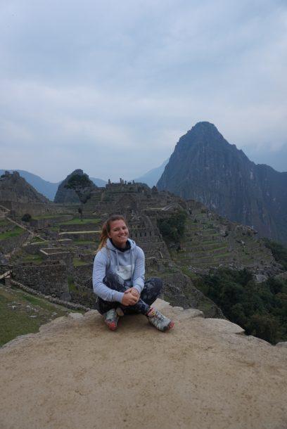 Marlene am Machu Picchu