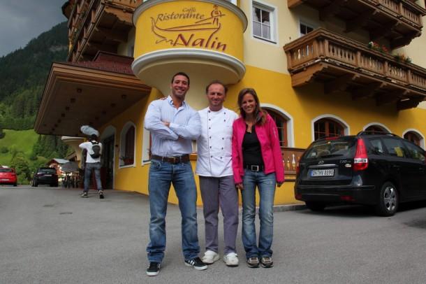 Moderator Ciro di Maio, Hotelier Mariano Nalin, Martina Meilinger (SLTG)