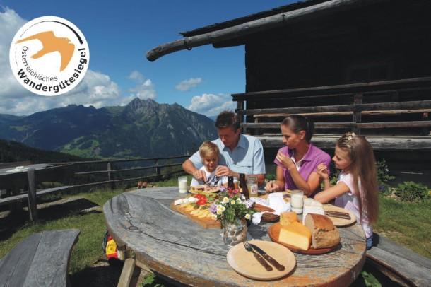 Köstliche Almjause im Großarltal - ein besonderes Erlebnis so wie hier auf der Maurachalm
