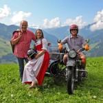 Michael, Karin Hettegger und Prod.-Leiter Axel Scherübel bei der Begrüßung