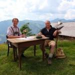 Michael mit Jungbauer/ Senner Sepp auf der Bichlalm