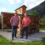 Interview mit Martin Rohrmoser am Insekten-Hotel beim Talmuseum
