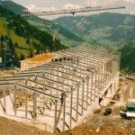 Bau Mittelstation Panoramabahn 10.08.1990
