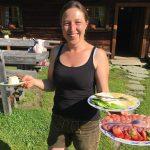 Sennerin Maria mit dem Almfrühstück