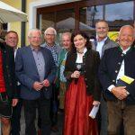 Caroline Koller vom ORF mit einigen Großarler, Zuagroasten und Ausgroasten