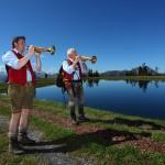 Besonders idyllisch: Die Rast am Spiegelsee in Dorfgastein