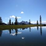 Ein wunderbarer Platz der Spiegelsee - kaum zu glauben, dass er eigentlich ein Beschneiungsteich ist