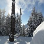 Naturplatzl schon ziemlich verschneit