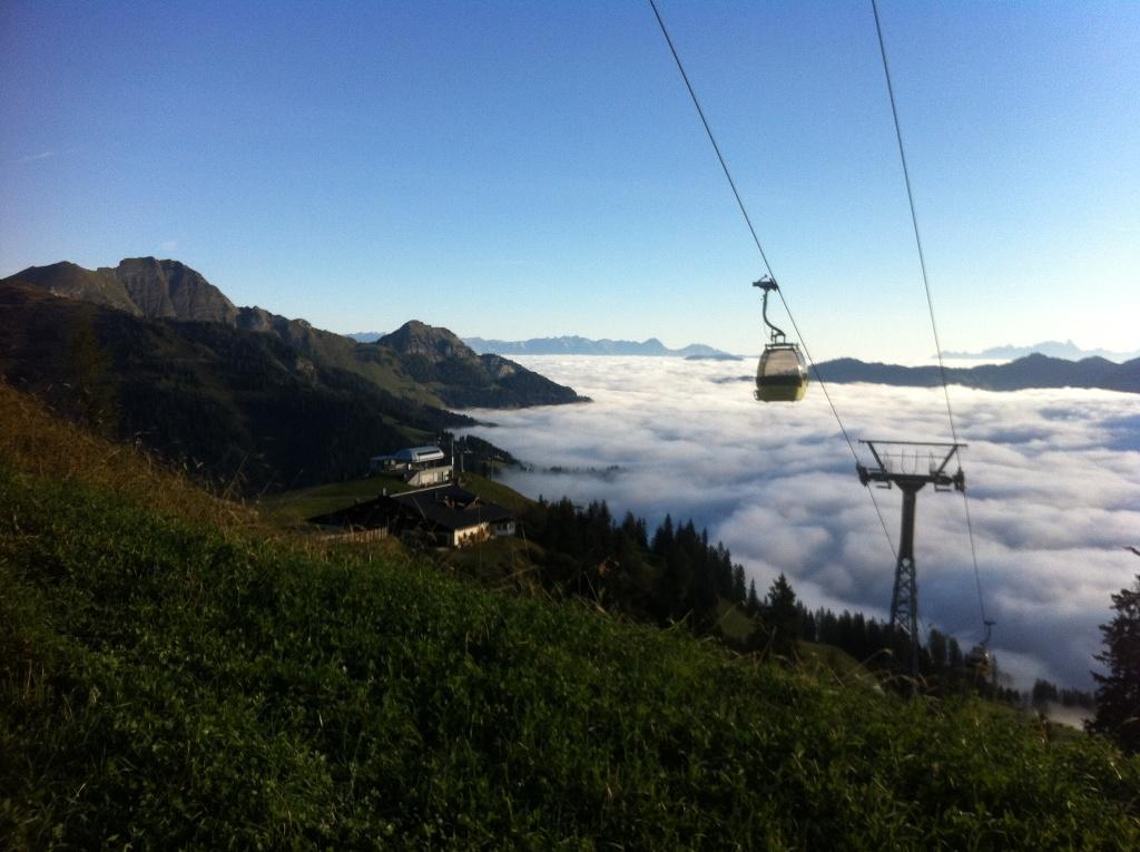 Ein Nebelmeer über dem Talboden des Großarltales