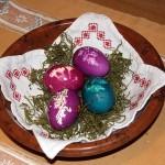 Ostereier färben Grossarl Osterbräuche