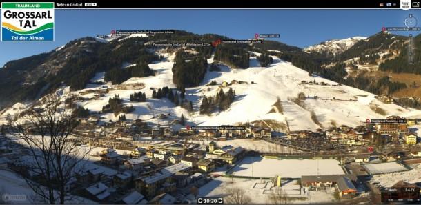 Panoramabild Großarl 03. 01. 2017