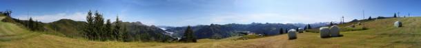 Was für ein Panoramablick an der Familienabfahrt 3 vom Kreuzkogel