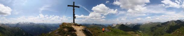 Klingspitz, 2.433 m - Panorama