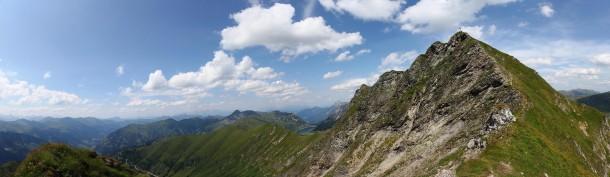 Abstieg vom Klingspitz