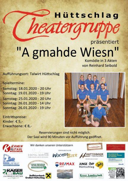 Plakat Theater Hüttschlag